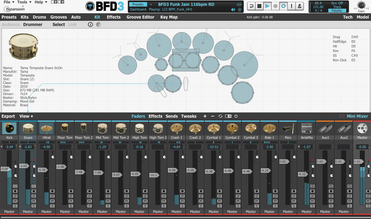 FXpansion BFD 3 Virtual Drumkit